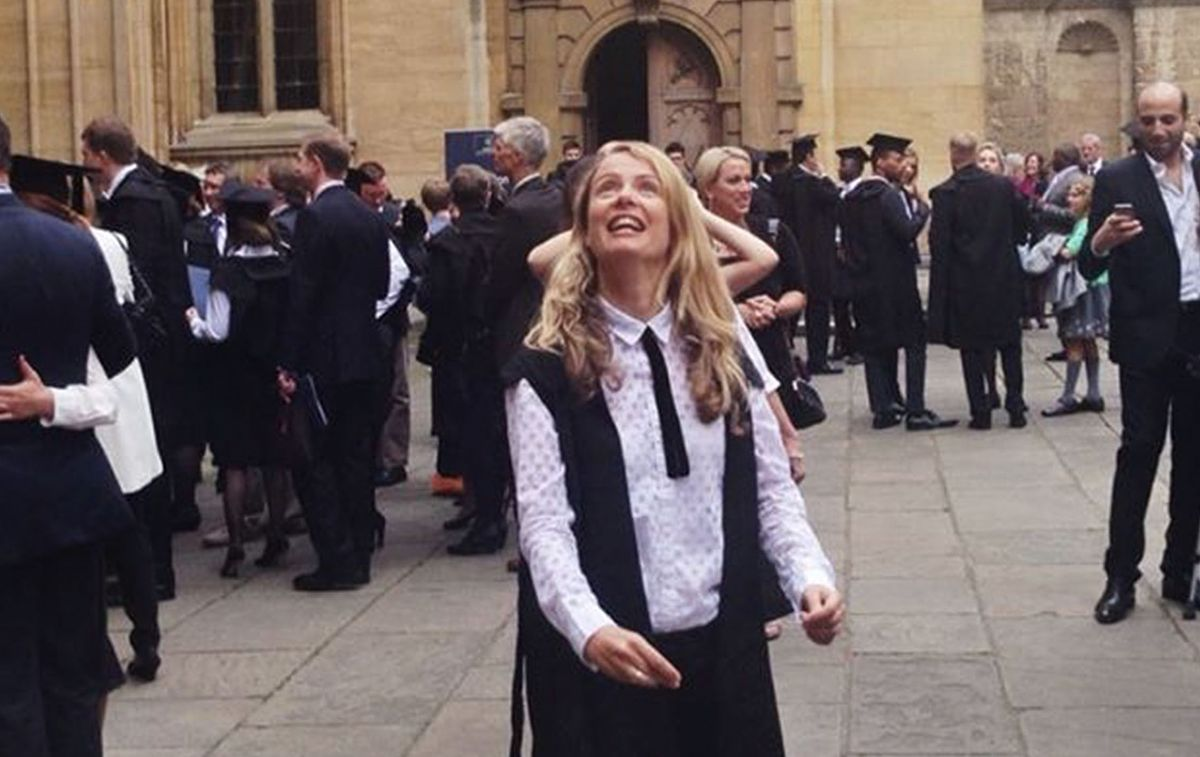 Lisa upon graduating