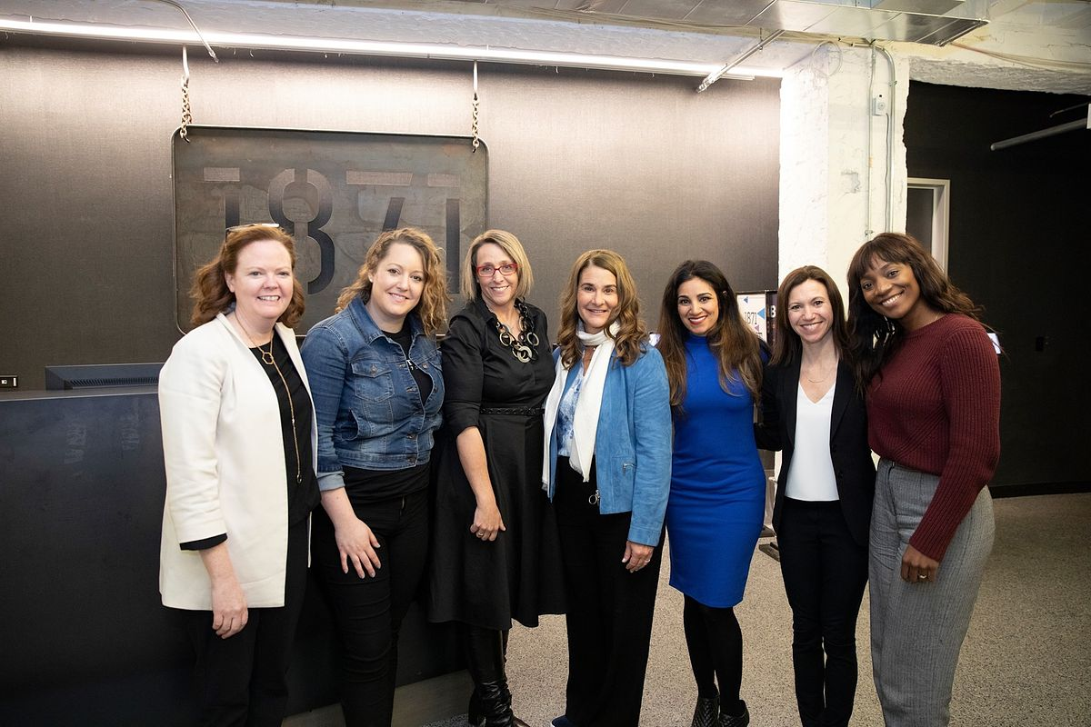Meeting Melinda Gates at 1871, Chicago