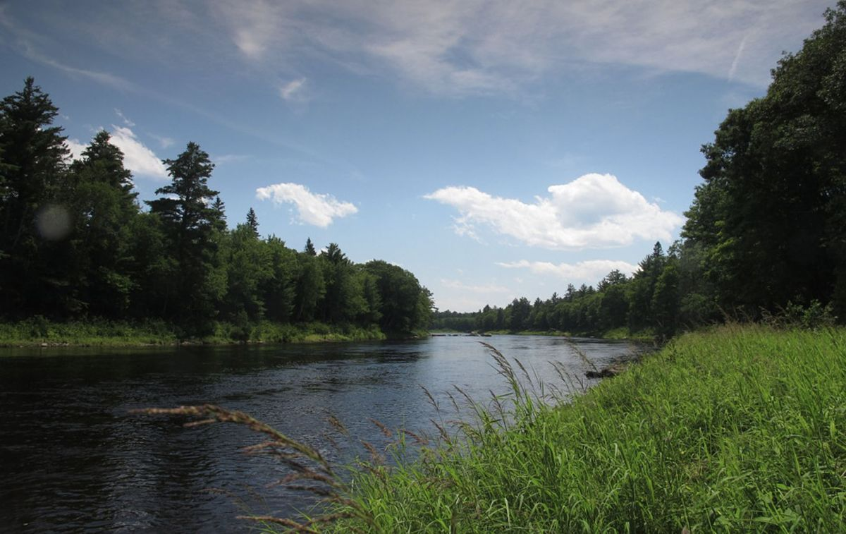 Part of the protected Penobscot River in Maine