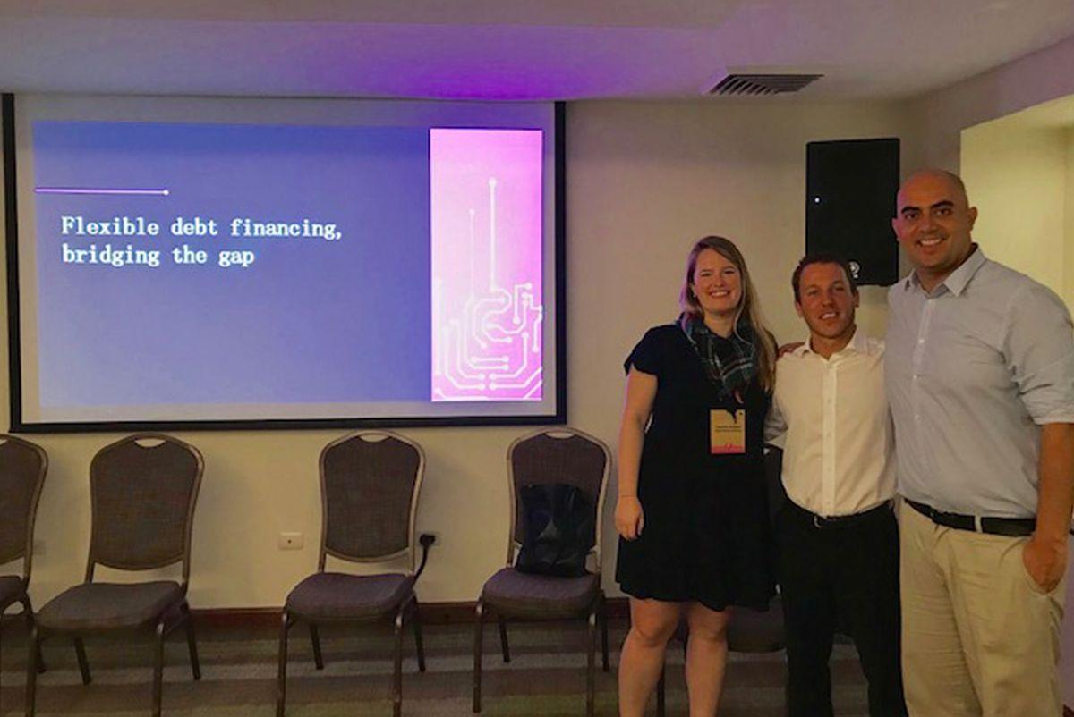 Caroline at FLII (Foro Latinoamericano de Inversión de Impacto)
